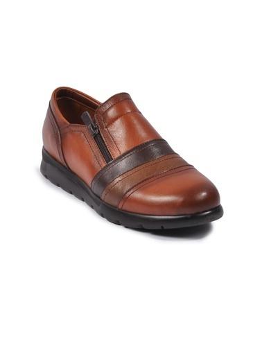 Ayakmod 230 Siyah-Bordo-Yeşil Kadın Günlük Ayakkabı Taba